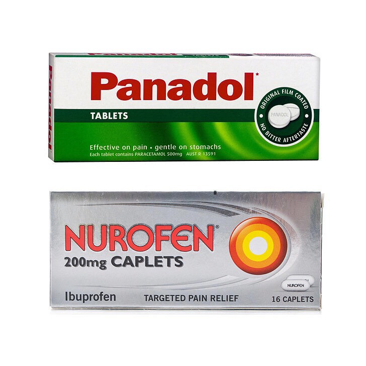 Panodola and nurofen. Just a few. Not the whole box
