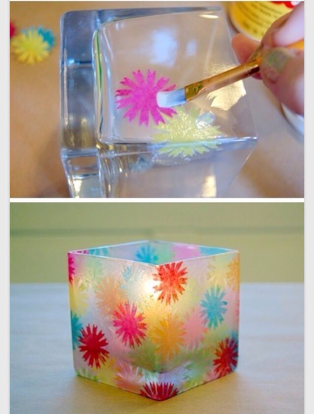 Then start decorating and then you have a beautiful candle holder please like 😘