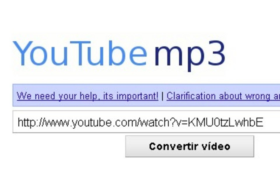 Go too youtube mp3 on google search