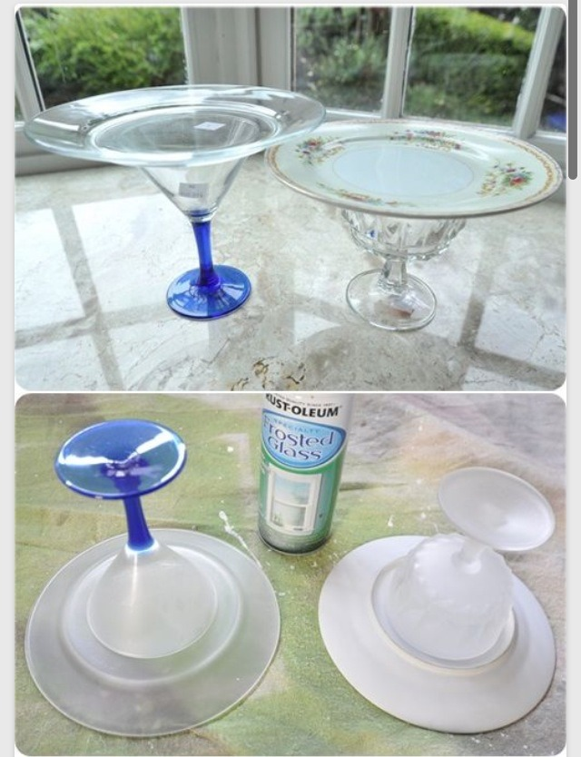 How To Make A Cake Stand From Plates And Glasses