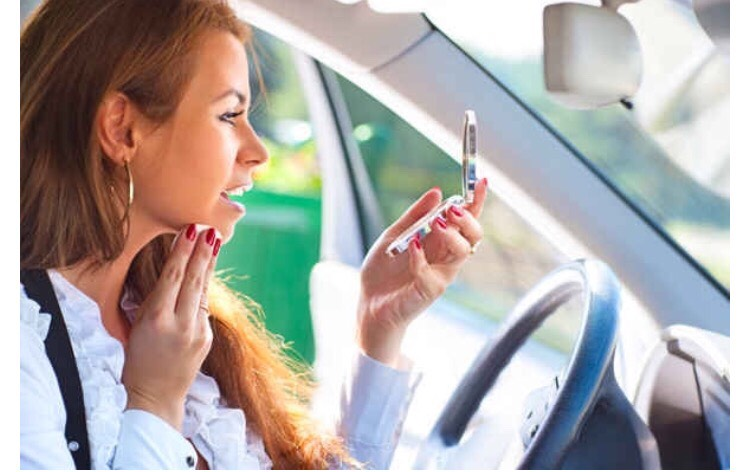 Check your makeup when you get in the car to expose any mistakes you might have made. The different light source will help point them out. Please do not check your makeup when you drive!