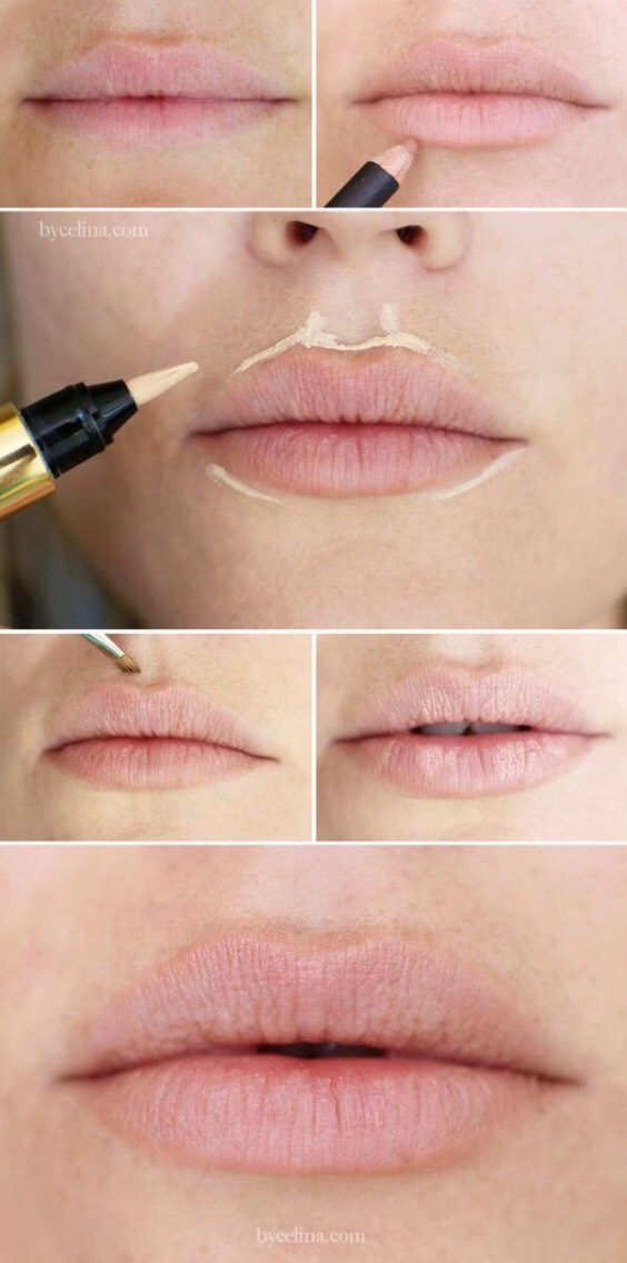 Make your lips fuller with this tip.