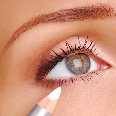 use white eyeliner to make your eyes pop