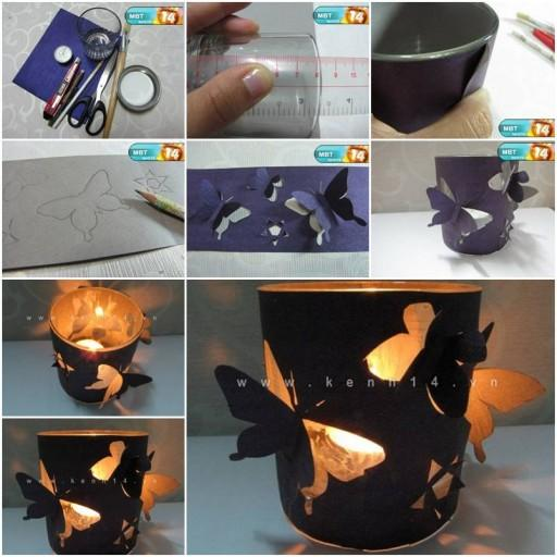 Butterfly candle holder.