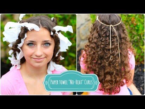 Paper towel curls cute girls hairstyles
