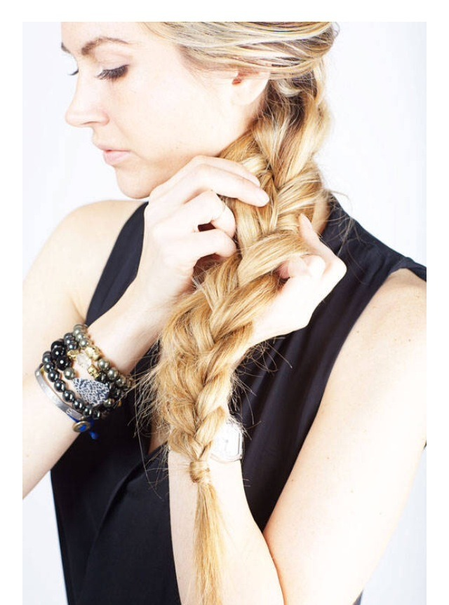 Pull apart the ends of your braid to make it look like you have more hair. I know we all want that Frozen braid!