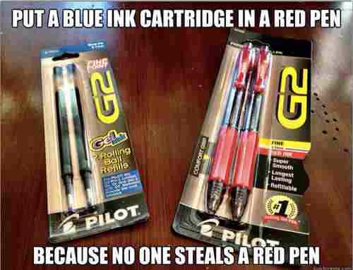 No one wants a crappy red pen.