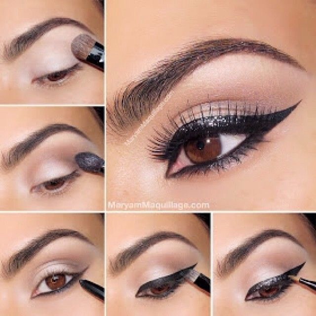 Cat eyes  This is the exact tutorial I use to do cat eyes and it works magnificently for me!   It's super simple and looks great.