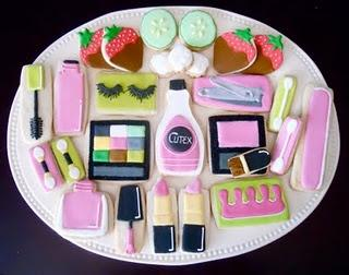 make these cute cookies for the girls to enjoy while being pampered and even have music playing as well