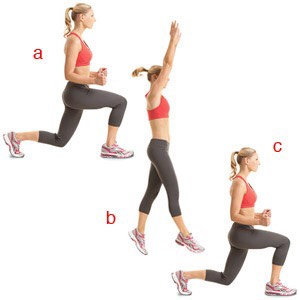 Jump lunges 30