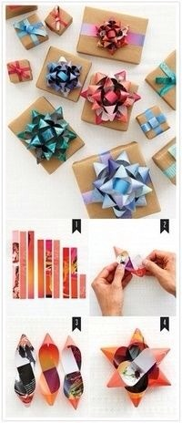 Make bows for your gifts.