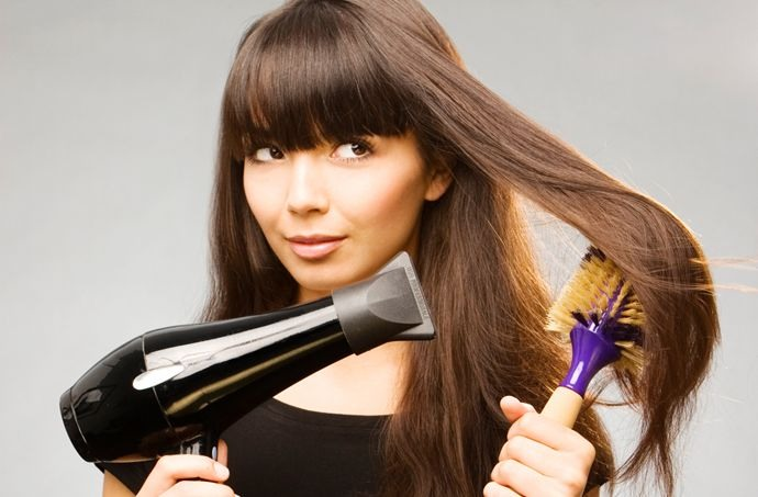 Dry and avoid blow drying hair as it damages it , if you do make sure you use a heat protector spray