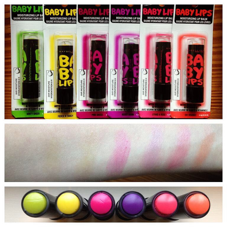 Maybelline's baby lips are a great lip balm that renew your dry lips in two weeks!! A must have to keep your lips moisturized! They smell great and are pretty pigmented.