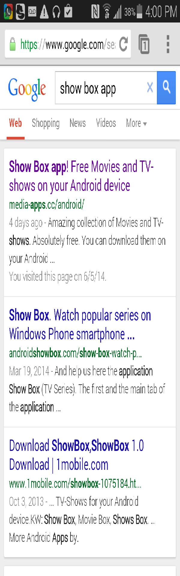 go to google and type in showbox app