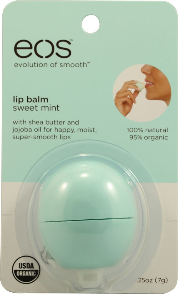 I also really loved this EOS lip thing in mint because it felt really cooling.