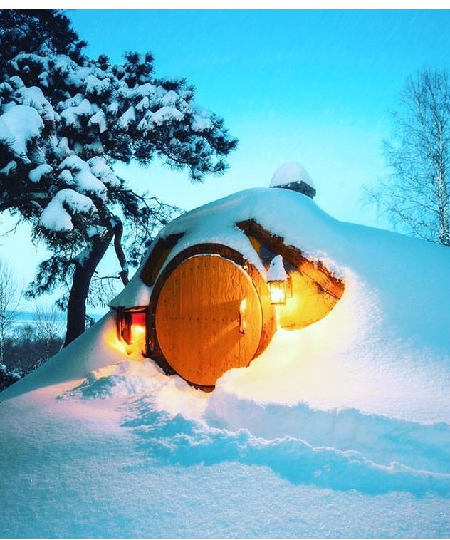 Winter in the hobbiton-New Zealand