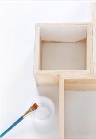 If you want to paint your wood with a satin finish you can do that first.