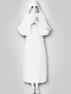 Wear all white, you can even sew your own white nun costume.