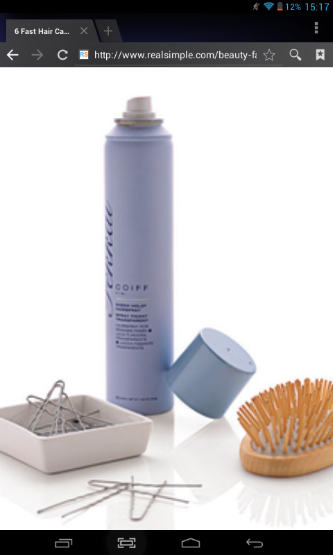 lightly spritz hairspray on your hairbrush and brush your hair that will get rid of frizzy hair