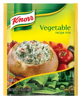 Knorr vegetable dip mix  This is where the flavor comes in!