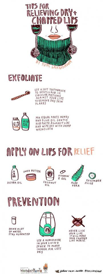 2. Here are some natural ways to soothe your lips.