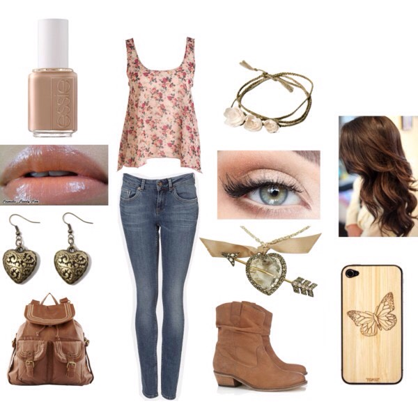 A cute and casual look for starting school with a bang