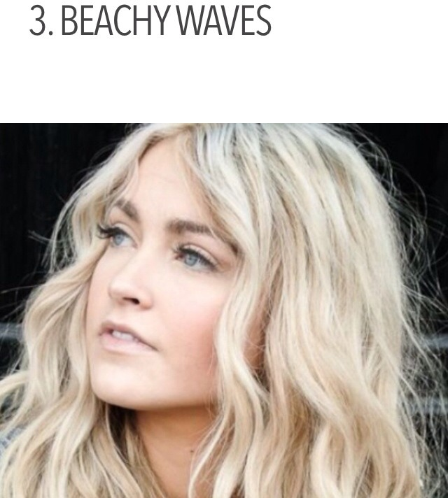 This gorgeous style will make you look like you belong at the beach. You can clip your hair in whatever way you'd like. The most important piece to this look is the cute waves. If you don't want to worry about styling your hair early in the morning, do it before you go to bed. That way, you can touc