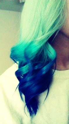 Aqua hair could mean several things: u could like peace, quiete, or you could be loud, crazy but your minds sometimes change.