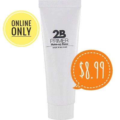 Normally 2B products are 1/2 off, so I've never seen it go above $4.95. It isn't made with silicone, so it won't break you out.  It is lightweight, slightly mattifying  + has a fresh scent to it.  Overall, it leaves my skin with a satin finish, not too far on the matte side of things.