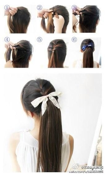Really cute way to spice up a ponytail & not spend too long in the morning!