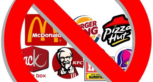 No fast food!