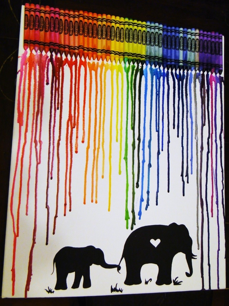 Musely for Melted crayon art techniques