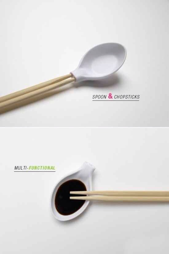 Your spoon and your chopsticks could become one.