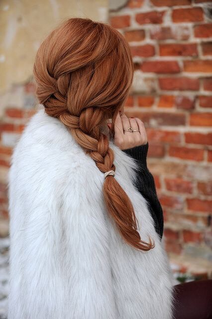 A beautiful braid starting higher on the head with a French braid feel.👄