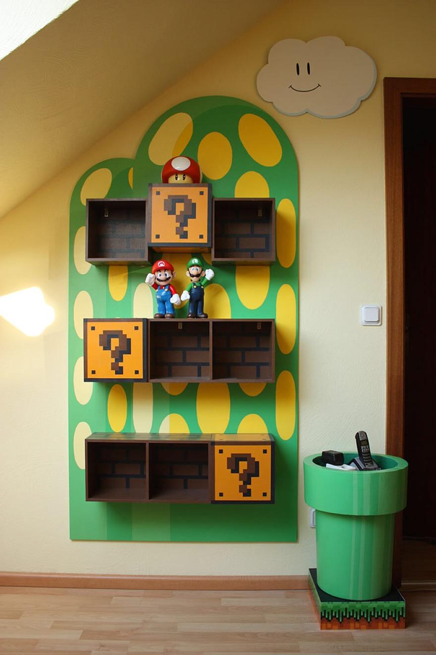 Super Mario Bros Bedroom Decor Musely
