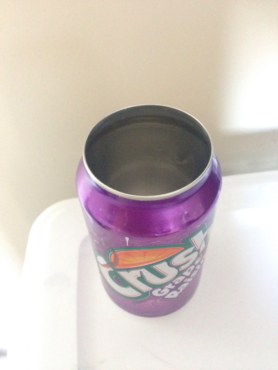 Use your can opener to take off the tops of your cans. They should look like this.