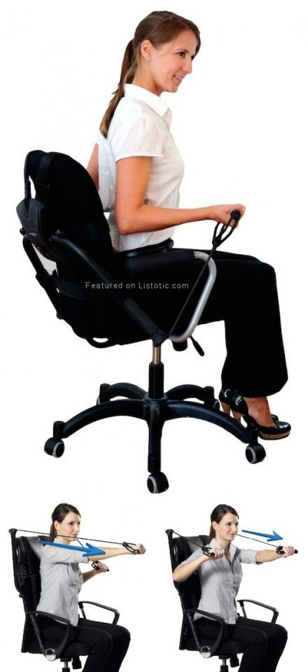 8. Get Fit At Your Desk