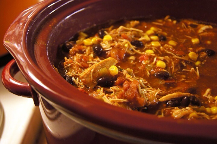 If you don't have a slow cooker, you can also use an oven safe, 5 1/2 quart or larger pot. Simmer the whole pot at 350 degrees, stirring occasionally, for 3 hours. Using either, you'll end up with a delicious result and find that leftovers are even better the next day.