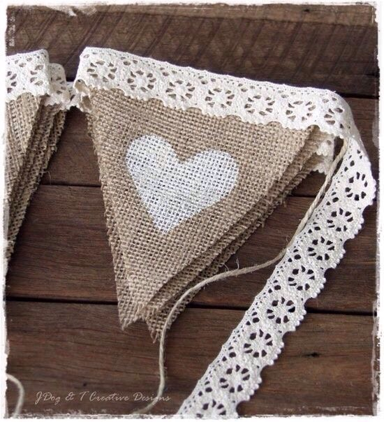 Bunting. So easy!!! Triangles and twine!!!