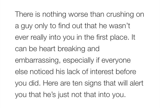 Hes Not That Into You Signs