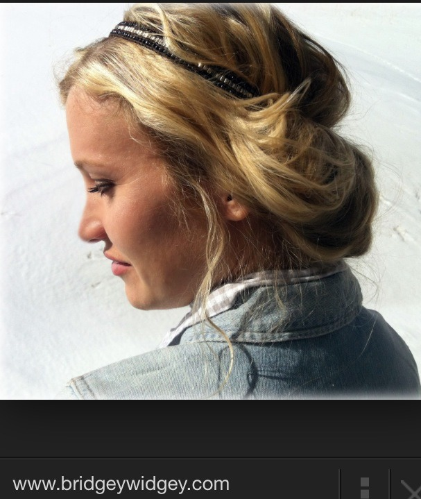 Simply pull on a head and and tuck hair from under headband over! Scroll for more images and tutorial pics. Hair can be left straight and it still looks great!