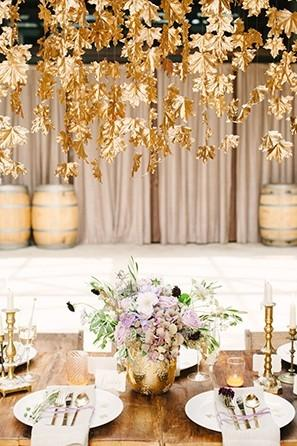 Use of Vertical SpaceMore than ever, couples will get creative with all of the available space in their venues. From hanging installation of lights orflowersto elaborate photo backdrops, vertical space has never been more in demand. So, when you attend weddings next year, remember to look up!