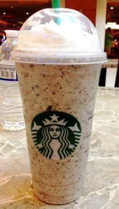 Here's the recipe: -Vanilla Bean Frappuccino, less one scoop of vanilla bean powder (1 scoop tall, 2 scoops grande, 3 scoops venti) -Line the cup with mocha drizzle (if you like it extra chocolatey) -Add a banana (remember the extra cost) -Add java chips -Top with whip and mocha drizzle