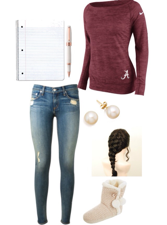 ... You take a day off and plan on studying. I had a big civics test today and I've been studying since Sunday so this outfit is dedicated to/inspired by the comfortable clothing I wore while studying! ☺️