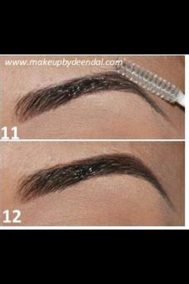 Next I go over my brows with a eyebrow gel to keep my brows lasting longer and non moveable through out the day💆💗