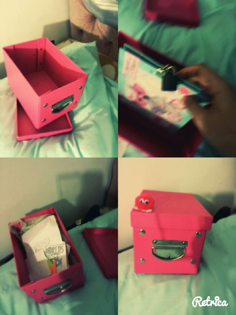 1.i got this box from the pound store. 2. put all ur secret stuff inside.