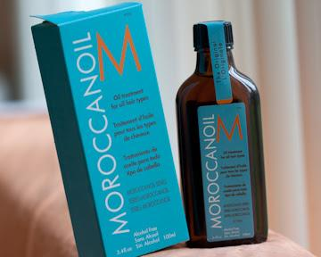 Moroccan oil works wonderful for an oil to use for your hair, works wonderful to help your hair smell and feel wonderfing, specially after IF you style your hair. Depending your hair colour you may need light or dark oil, you can find this at most hair dresser shops for about $40.00-$50.00 :)