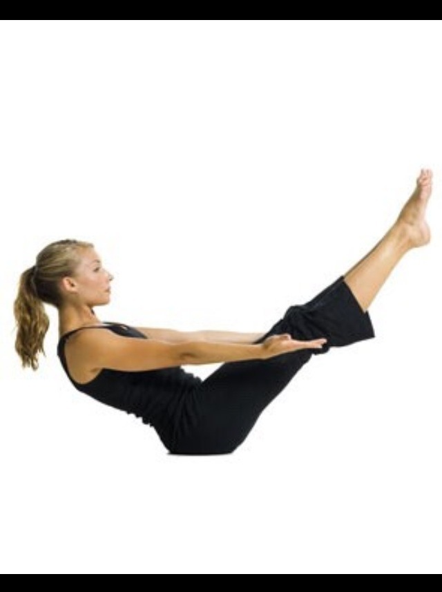 V-ups:   • these work the abs very well, keep your legs in the air with your back on the ground and lift the upper part of your body up to the legs. Do this continuously.   • Atleast 30 v-ups