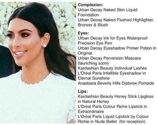 Kim Kardashian Wedding Makeup Famous Person