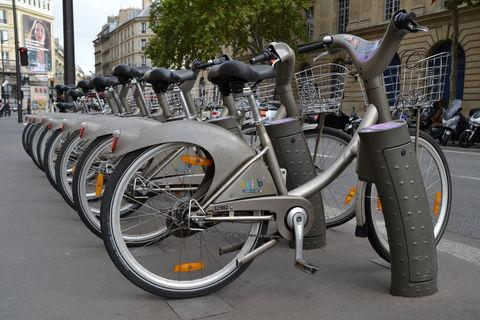 3. Rent a bike—Velib bike rental stations dot the city, making it a highly convenient (and cost effective) way to navigate the city.